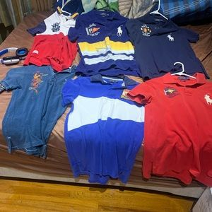 Lot of polo ralph lauren shirts , sizes S and M